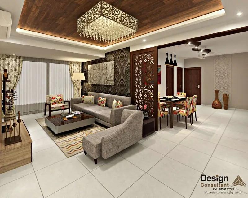 3BHK Flat Interior Design and Decorate at Mangalam Grand Vista Vaishali Nagar Jaipur by Design