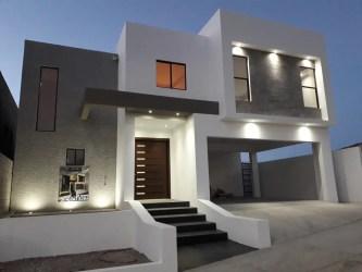 Casas Gris Con Blanco Exterior