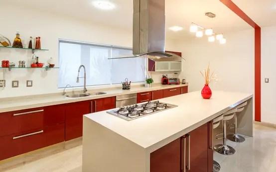 Diseño Cocinas Pequeñas Con Barra | Jardines Con Piedras 45 ...