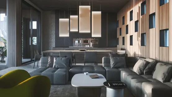 Rundgang Durch Ein Modernes Luxus-zuhause