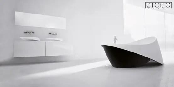 Stylisches Baddesign In Schwarz Und Weiß
