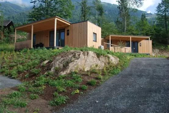Idyllisches Wohnen Auf Dem Campingplatz