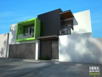 casas casa fachadas modernas colores combinaciones fachada pintar homify exterior gris negro blanco verde exteriores moderno ver tu construir antes