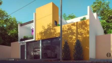 casa colores casas fachada pintar estilo moda mexicano mi exterior amarillo arquitectura minimalista tu minimalistas homify