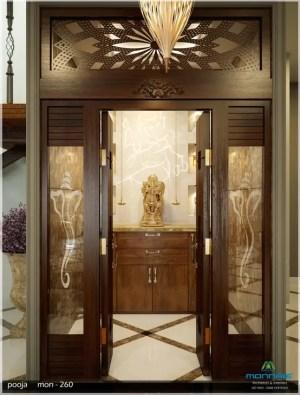 pooja door designs glass mandir modern temple rooms homify doors puja contemporary interior living wood stairs decor premdas krishna hallway