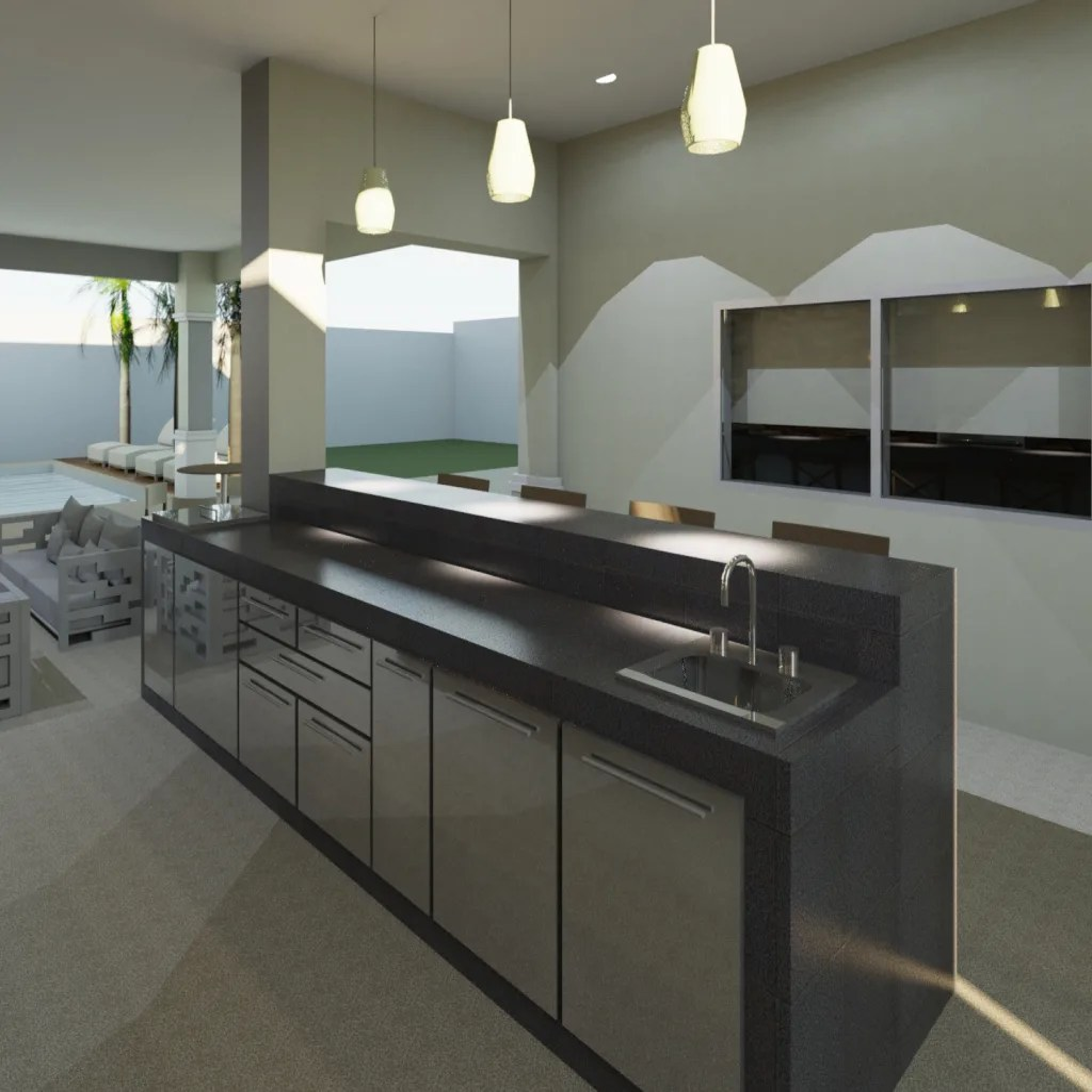 Barra bar terrazas de estilo por planeacion y proyectos