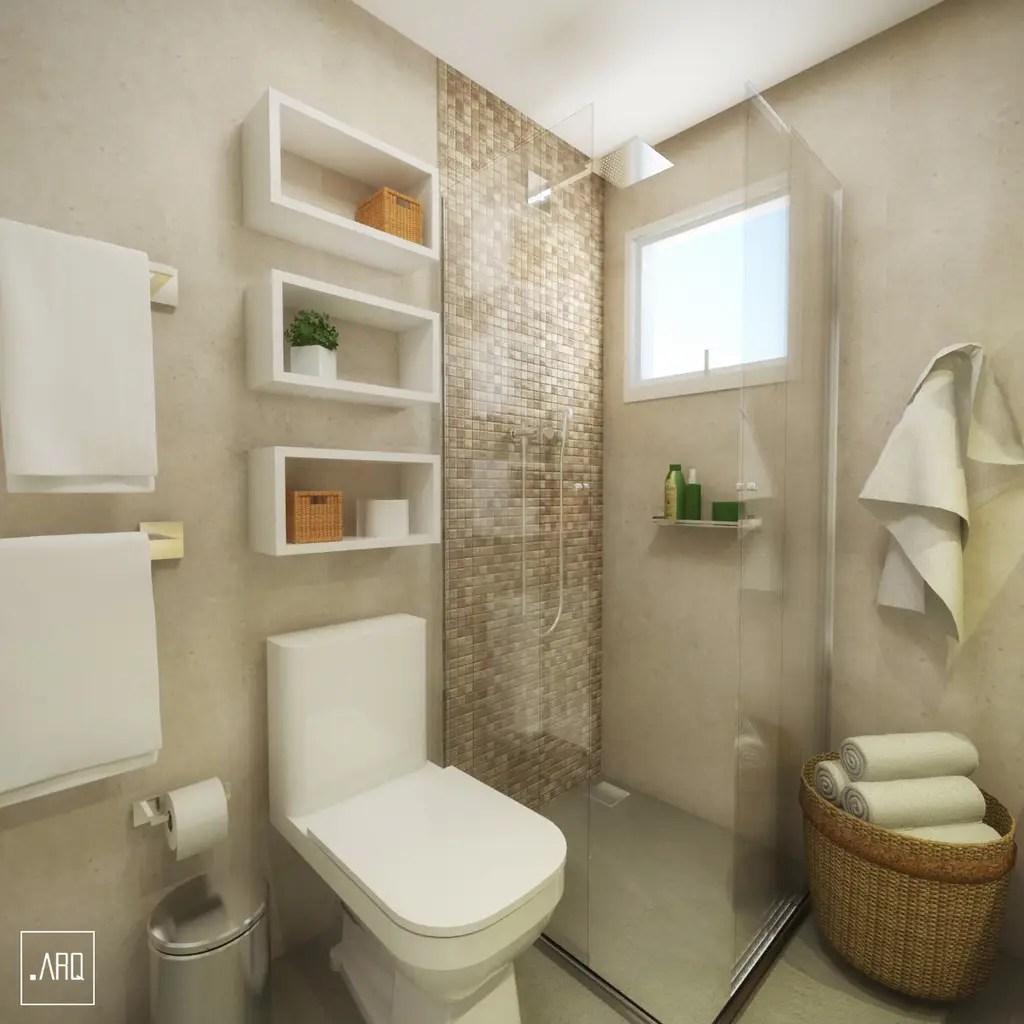 Banheiro social  espaos pequenos banheiros por ponto
