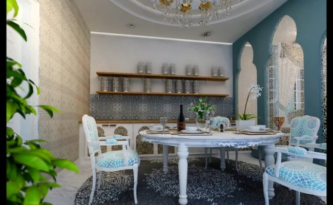 Morrocan Style Interior Ruang Makan Klasik Oleh Cv