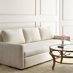 Four Seat Sofa With Chaise Side Table White Lee Industries Burbank Sleeper