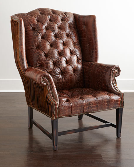 Red Tufted Chair