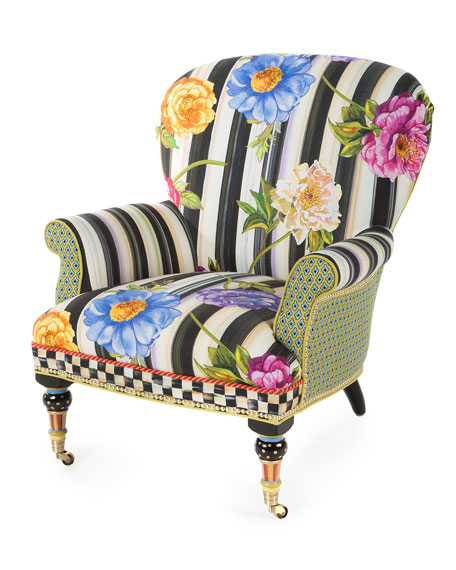 MacKenzieChilds Cutting Garden Accent Chair