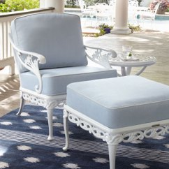 Outdoor Chair And Ottoman Desk Chairs No Wheels Furniture Garden Bench Sofa At Neiman Marcus Horchow Day Lily Lounge
