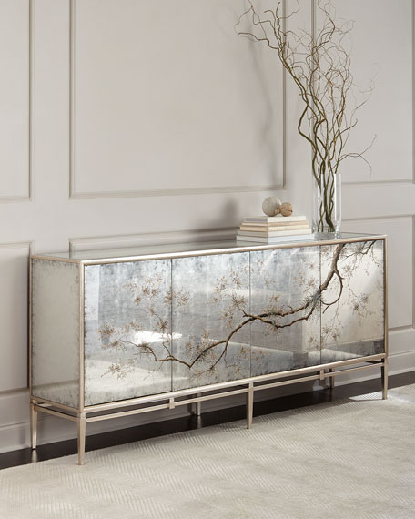 JohnRichard Collection Falling Branch Eglomise Console