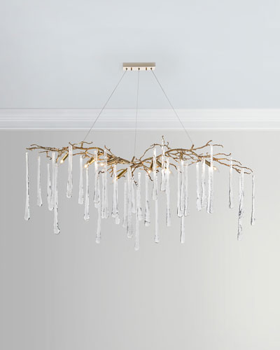 Brass Glass Teardrop Chandelier Quick Look John Richard Collection