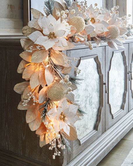 White Amp Silver Collection 6 Pre Lit Garland