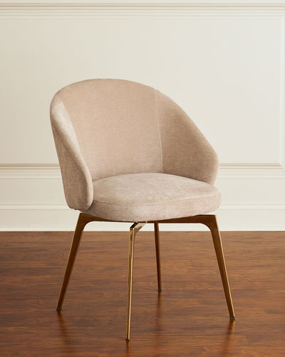 acrylic side chair with cushion steel folding chairs arms dining leather at neiman marcus horchow cynthia chenille