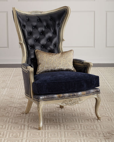 furniture chairs living room ideas for wall decor dining at neiman marcus horchow celeste leather wing chair