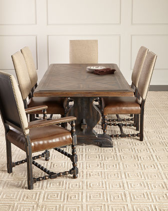 dining set with bench and chairs boon flair pedestal high chair room furniture at horchow casella table matching items