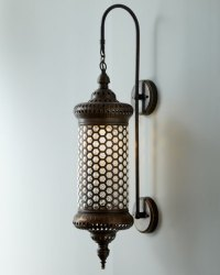 """""""Moroccan"""" Metal Sconce"""