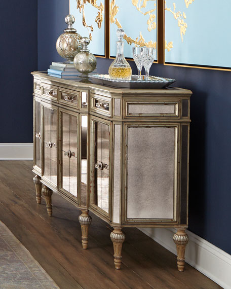 Dresden FourDoor Mirrored Buffet