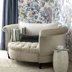 Harlow Cuddle Chair Lounge Accent Haute House Silver