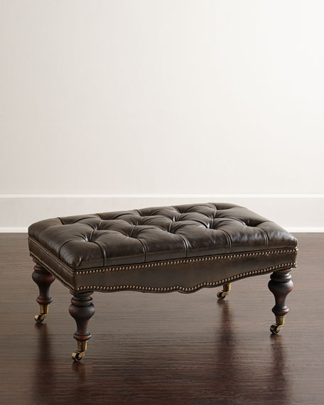 old hickory tannery tufted moss ottoman