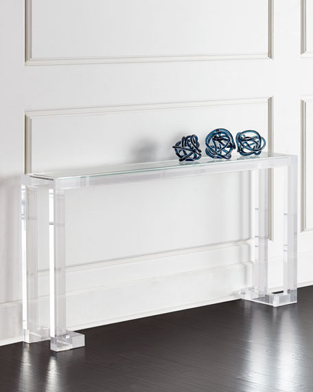 Interlude Home Naomi Acrylic Console Table