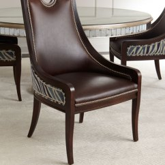 Leather Dining Chairs Tub Chair Blue Massoud Markham