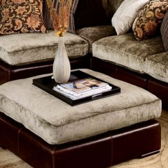 Leather And Chenille Sofa Cloud Z Gallerie Sectional
