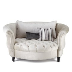 Harlow Cuddle Chair Wooden Circle Haute House Silver