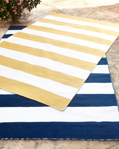 Rugby Stripe IndoorOutdoor Rug