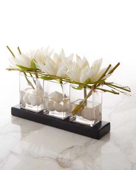 Water Lilies Faux-Floral Arrangement