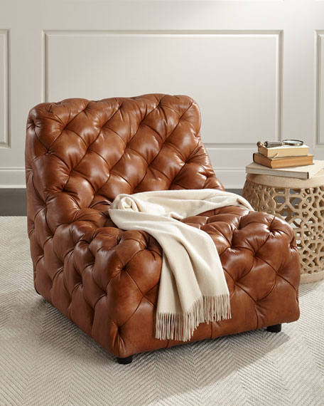 bernhardt brown leather club chair dunaway camel tufted