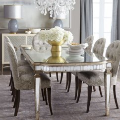 Z Gallerie Chairs Heavy Duty Aluminum Sports Chair John-richard Collection Cara Dining & Eliza Antiqued Mirrored Table