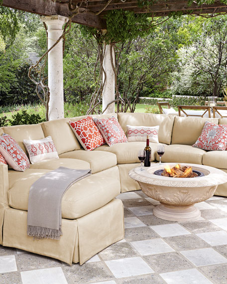 white fabric sectional sofa with chaise red table drawers lane venture outdoor upholstered