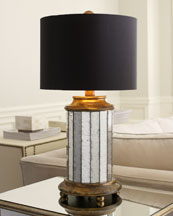 John-Richard Collection Mirrored Cylinder Table Lamp