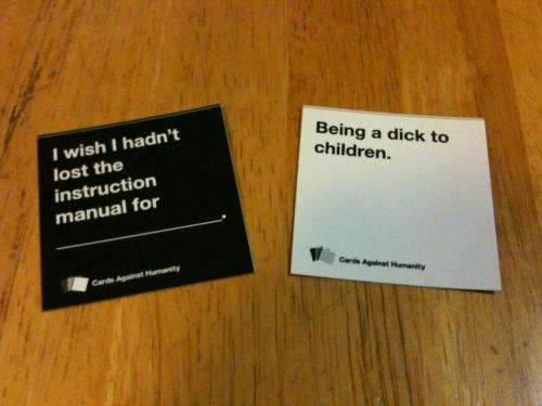 CARDS AGAINST HUMANITY Free Card Game Pdf Very Funny