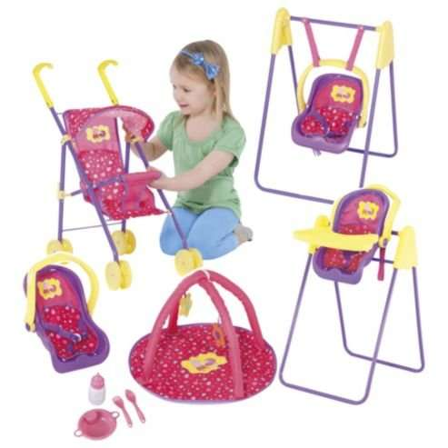 swing chair seat tabletop high recall peppa pig doll set (buggy, car seat, swing, chair, play mat etc) £10 @ tesco - hotukdeals