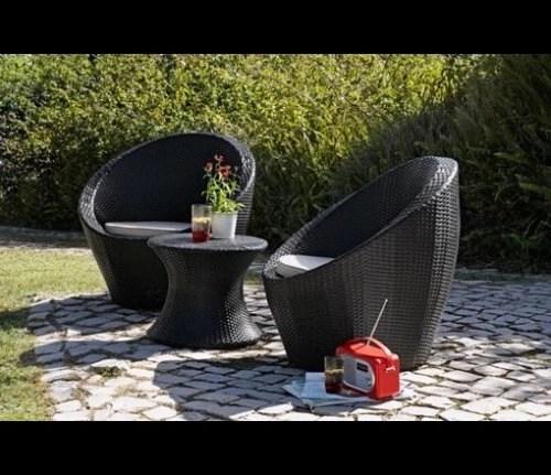 2 Seater Rattan Effect Egg Patio Furniture Set 14999