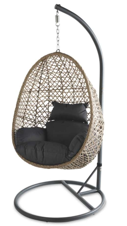 hanging chair aldi modern folding gardenline rattan back in stock 129 99 plus 3 95 delivery hotukdeals