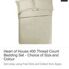 Ebay Uk Christmas Chair Covers Morris Chairs For Sale Heart Of House 400tc Double Duvet Cover Set 10 94 Argos