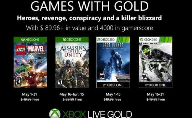 Games With Gold For May Lego Marvel Superheroes