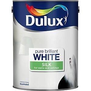 Dulux Pure Brilliant White Paint Silk Or Mat 5l 10 Asda Online In Hotukdeals