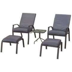 Reclining Garden Chairs Homebase Rocking Outdoor Vilamoura Chairs. Footstools And Table - £95 @ Hotukdeals