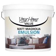4 Asda Your Home Matt Magnolia Emulsion 5lt 80p A Litre