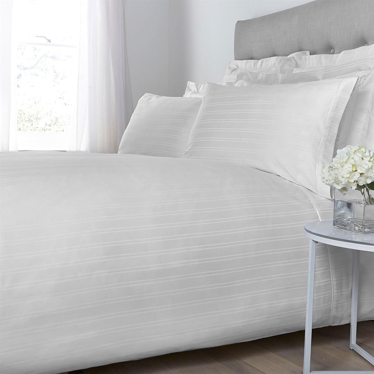 hotel collection woven stripe oxford pillowcase pair