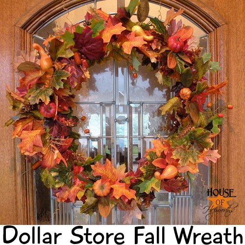 Dollar Store Wreath by House of Hepworths