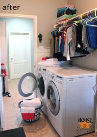 Adding more functional space in the laundry room (storage ...