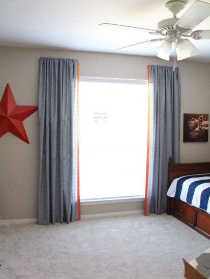 curtain rods bed sheets into curtains