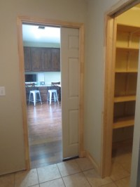 Pocket Doors, Pantries, and Canned Good Storage